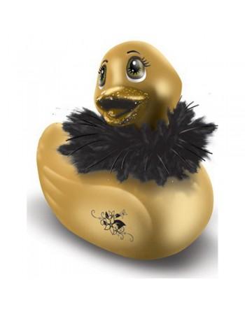 Canard vibrant 7 vitesses doré avec fourrure et pailettes