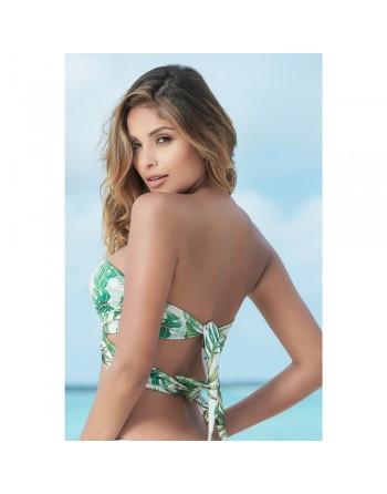 Haut de bikini motif feuille multi-positions - MAR6848FOR