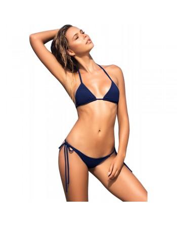Bikini string bleu marine uni - MAR6728NAV