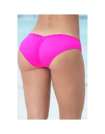 Bas de bikini rose tanga effet plissé - MAR6850HPK
