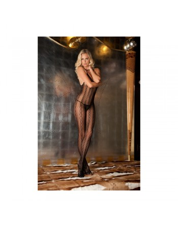 Bodystocking dentelle - REN7012-BLK