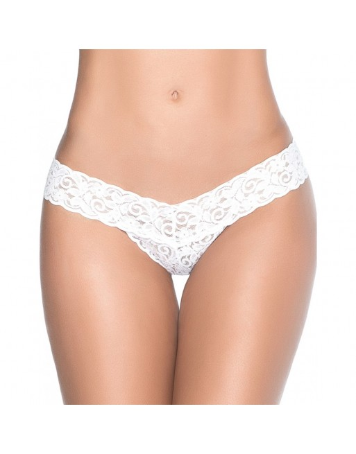 String blanc sexy dentelle - MAL94WHT